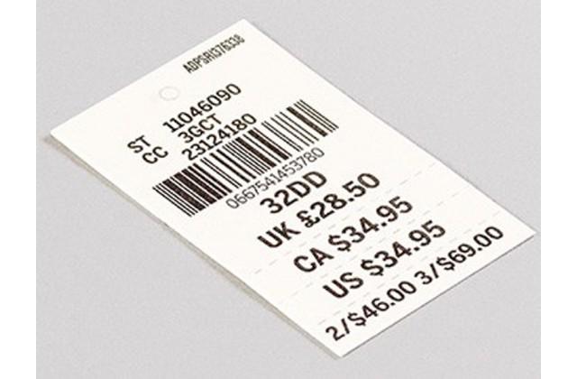 Printed Price Label