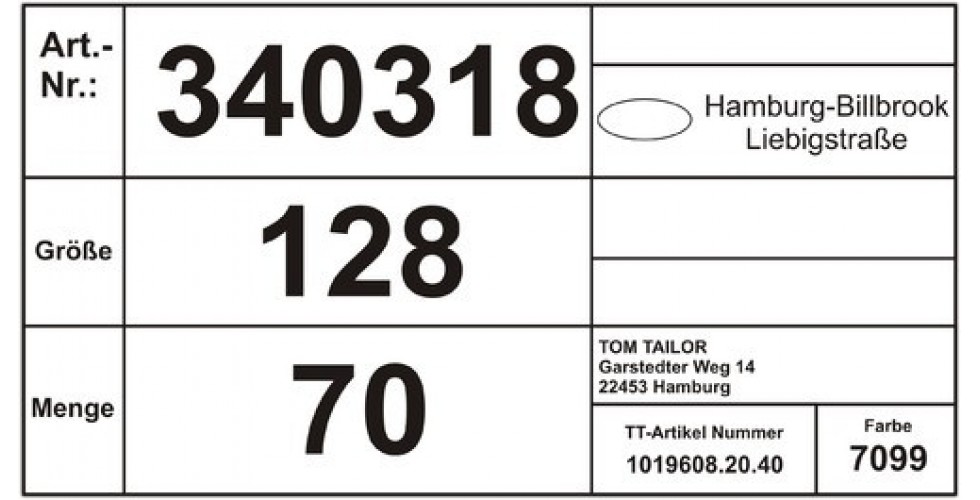 Carton Sticker